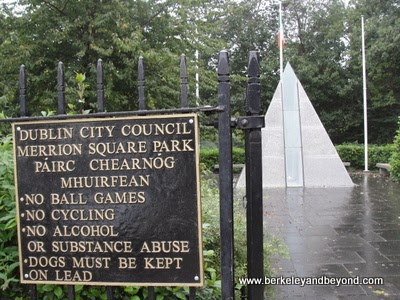 entrance to Merrion Square Park in Dublin, Ireland