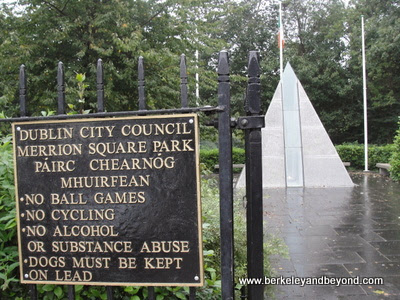 entrance to Merrion Square Park in Dublin, Ireland
