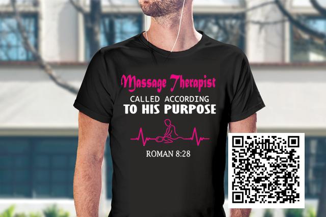 massage therapist called according to his purpose roman shirt
