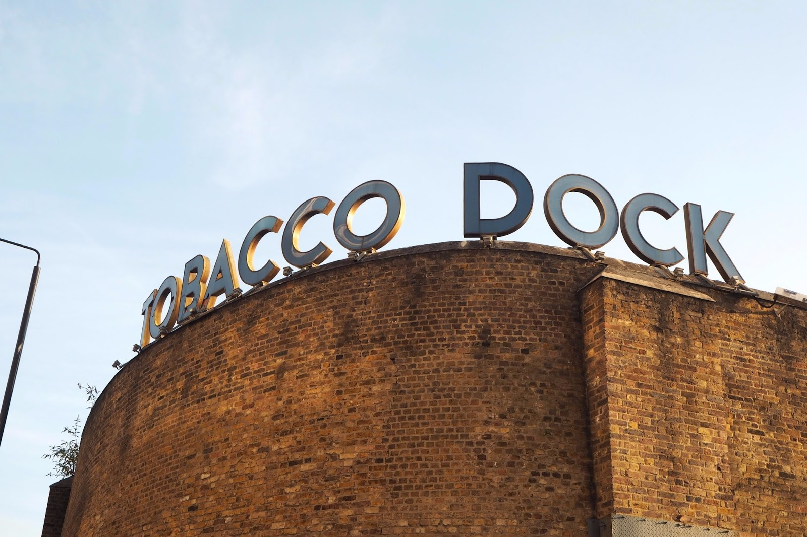 Tobacco Dock Sign