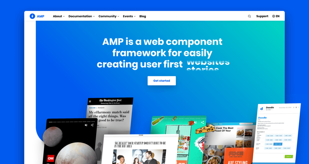 AMP Project official Website Move with .dev Extention