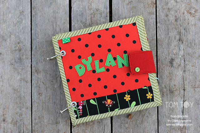 Little quiet book for Dylan, Handmade busy book by TomToy, Personalized baby boy gift