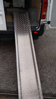 Rampa Aluminio damero  minusvalidos.
