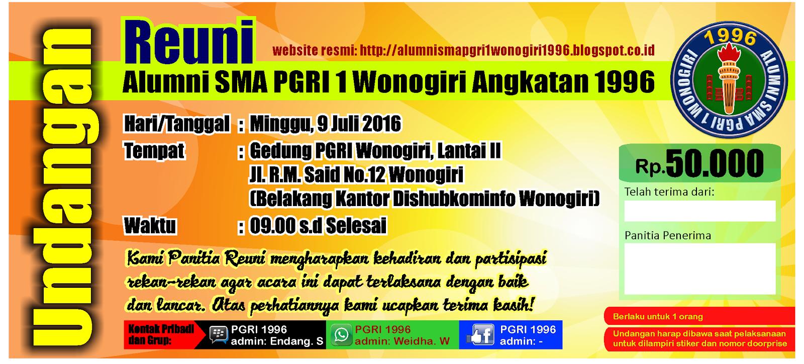 Paguyuban Alumni Sma Pgri 1 Wonogiri Angkatan 1996 Hasil Rapat