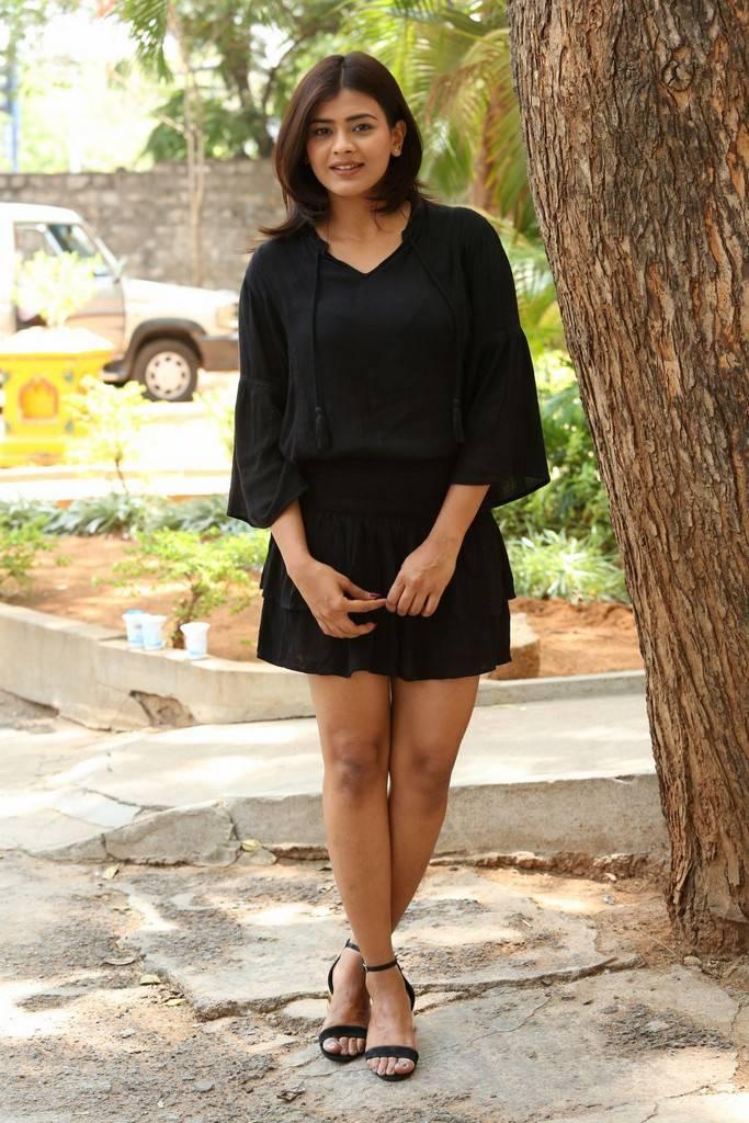Hebah Patel At Angel Movie Trailer Launch Event Stills