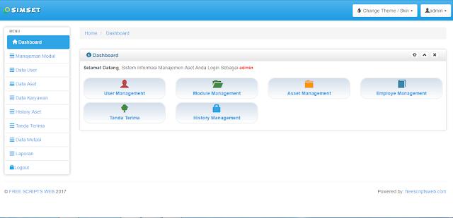 Download Source Kode PHP Aplikasi Manajemen Aset