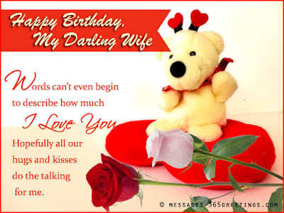 Happy Birthday wishes quotes for wife: happy birthday my darling wife