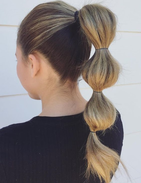 If you prefer bold and attractive hairdos ✘ 37 Stunning Bubble Ponytail Styles That Perfect To Copy in 2020