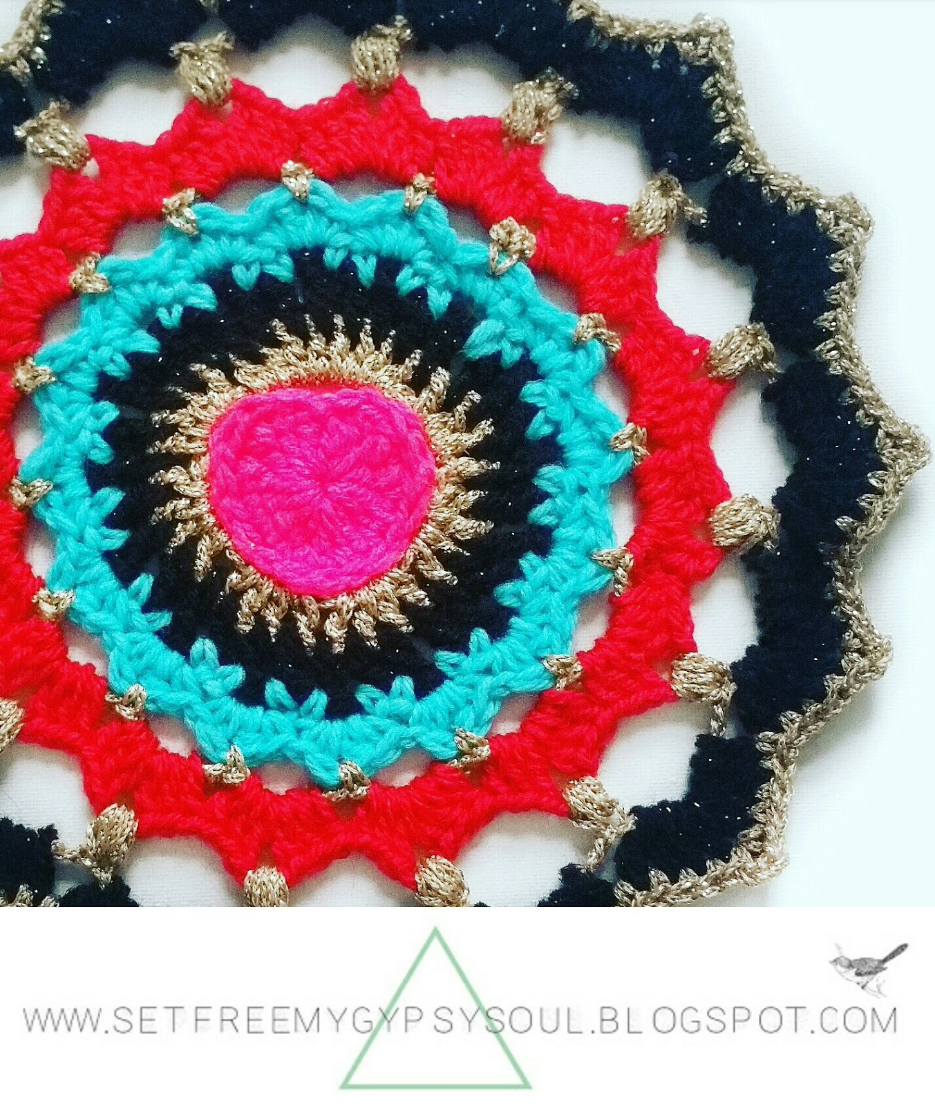 heart crochet pattern mandala sacred love buzz bohemian doily free