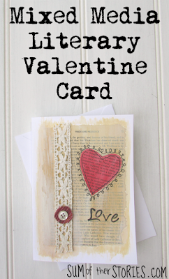 DIY valentine card mixed media
