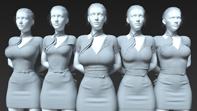 i13 Stewardess Outfit for the Genesis 3 Female