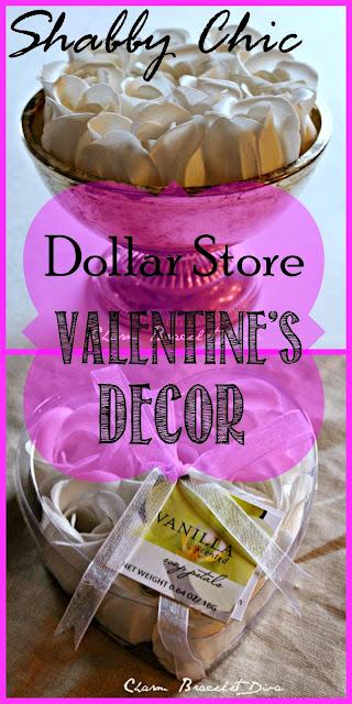 Dollar Tree rose petal soap decor