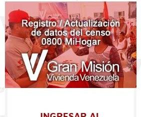 Registro y Actualización de datos del censo 0800 MI HOGAR ( GMVV)