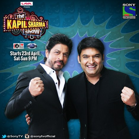 Shah Rukh Khan and Kapil sharma in The Kapil sharma show.