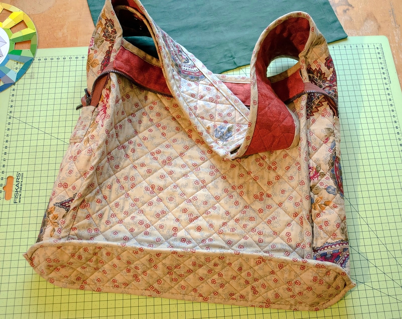 "How to make Patchwork Bag ""Butterfly"". Step by step photo DIY tutorial."