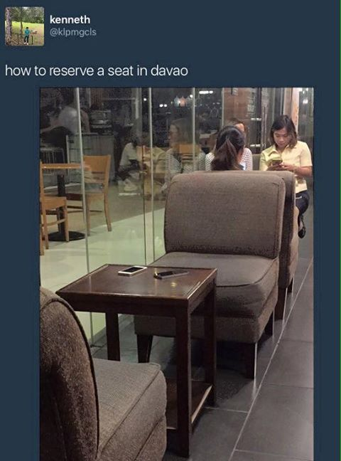 MUST SEE: You WIll Never Believe How People Reserve Their Seats in Davao!