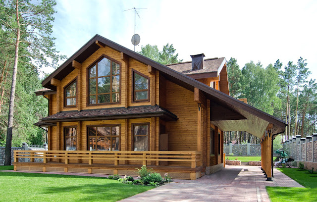 nhà gỗ phong cách hiện đại