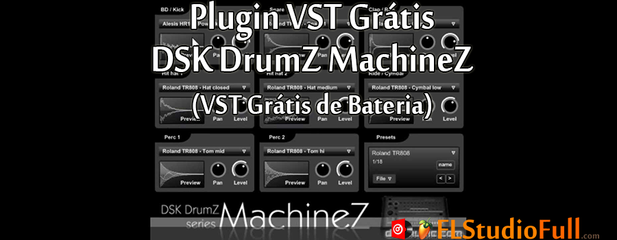 Plugin VST Grátis DSK DrumZ MachineZ (VST Grátis de Bateria)