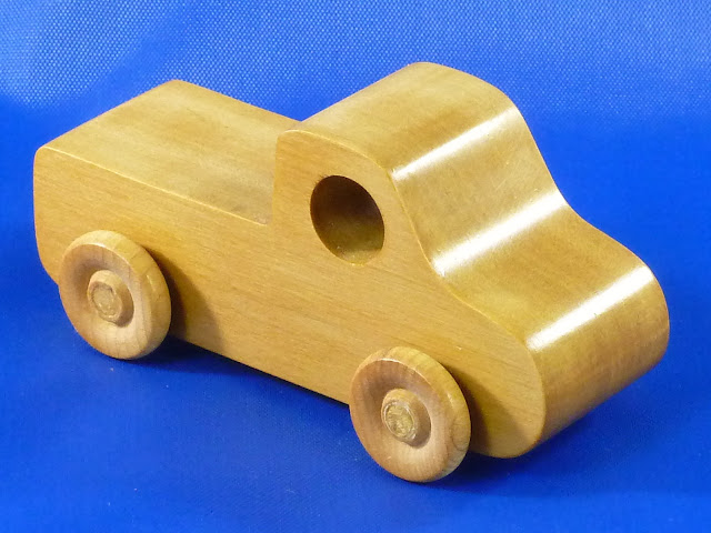 Right Front - Handmade Wooden Toy Truck - Play Pal - Pickup Truck