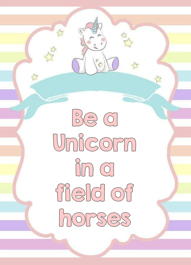 picture relating to Be a Unicorn in a Field of Horses Free Printable named Unicorn Get together Absolutely free Printables