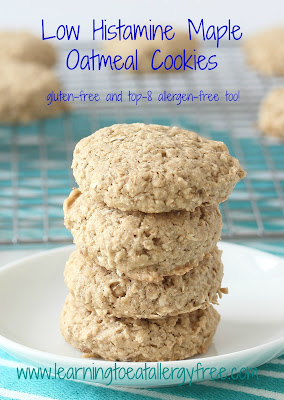 These cookies are gluten-free and top-8 allergen-free and meet the requirements of a low histamine diet.