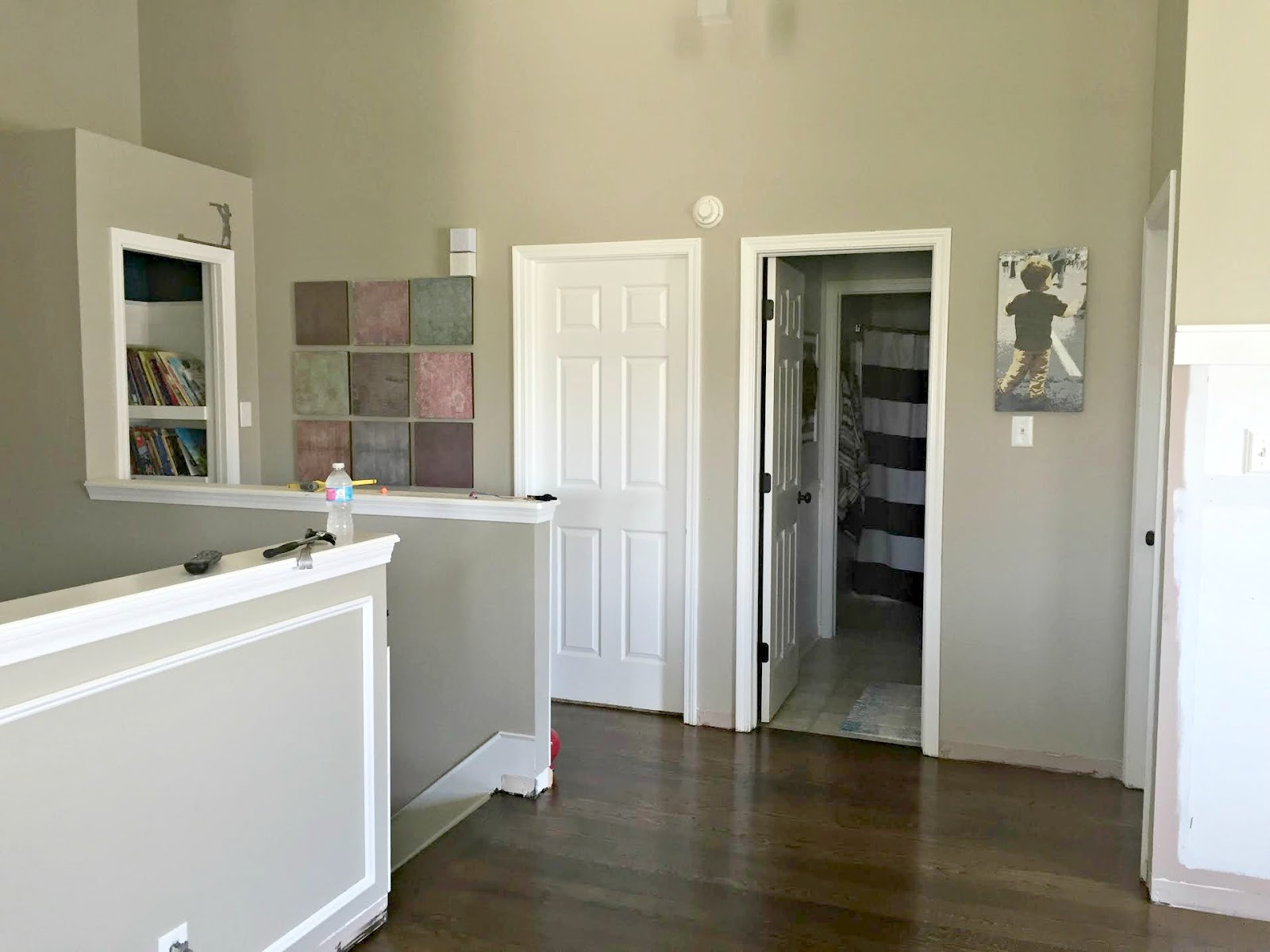 Finished Shiplap Walls And Farmhouse Door Trim In The Loft From Thrifty Decor Chick