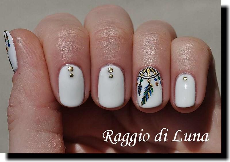 Raggio di Luna Nails: UV gel manicure with freehand nail art ...