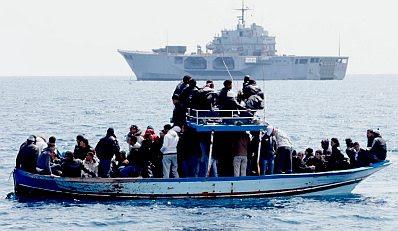 Lampedusa: boatload of refugees #6