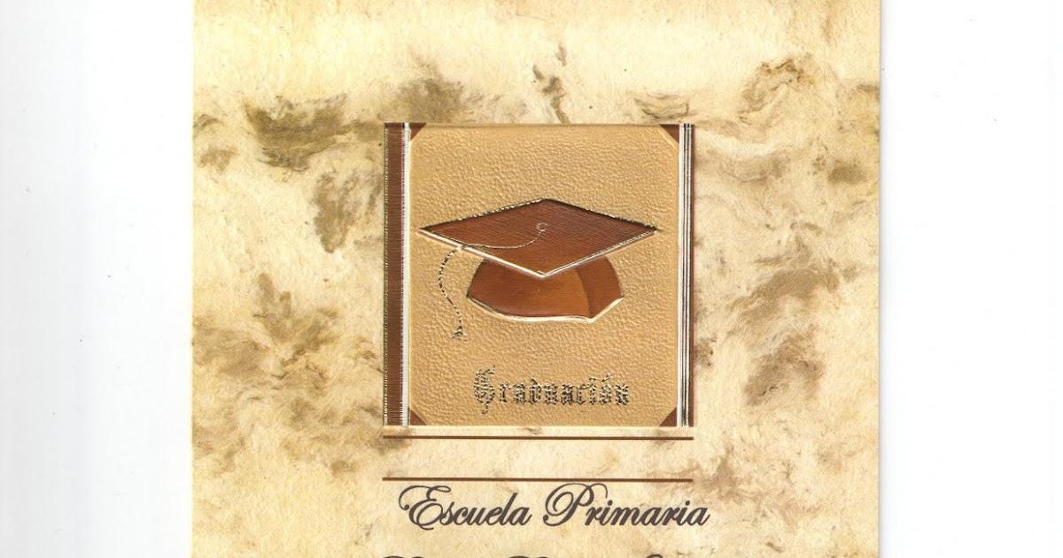 Invitacion Para Graduacion Escuela Primaria Profr Benito Acosta