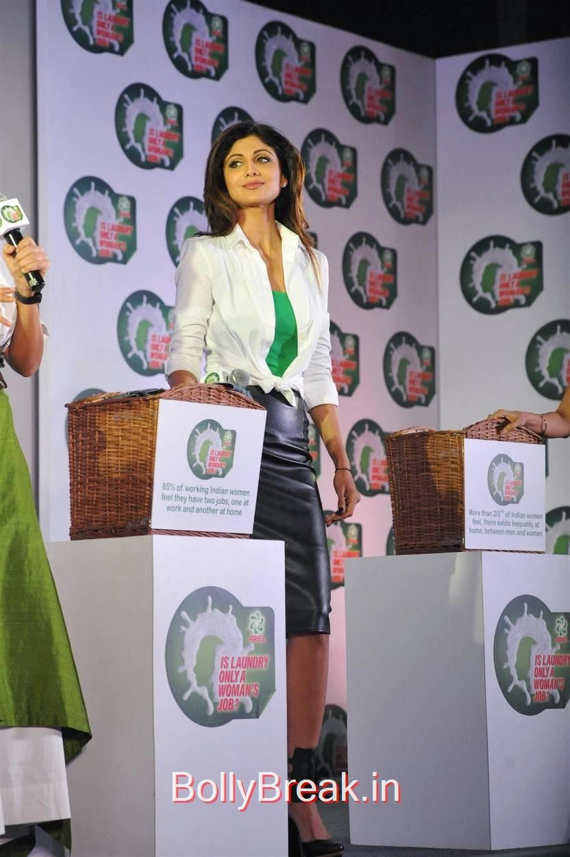 Shilpa Shetty Stills, Shilpa Shetty Hot Pics in Skirt  At Ariel Promotional Event National Survey