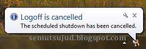 Shutdown otomatis dengan menjalankan program RUN-5