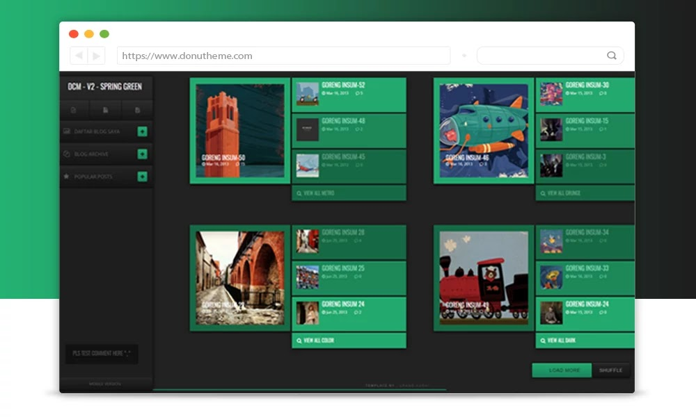 DCM Spring Green Blogger Template