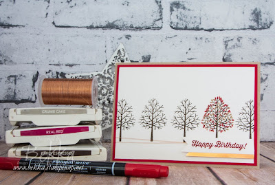 Totally Trees Colour Challenge Birthday Card Made Using Stampin' Up! UK Supplies