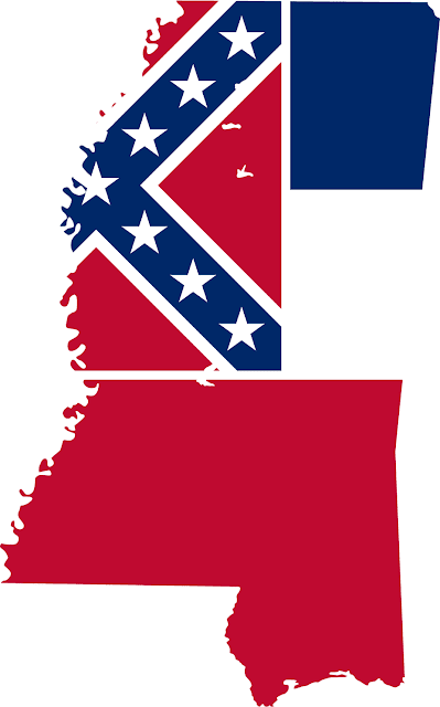 Mississippi S First Interracial Couple August 3 1970: Mississippi Flag 072811» Vector Clip Art