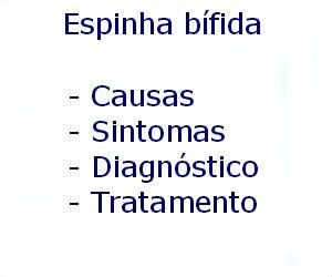 Espinha bífida causas sintomas diagnóstico tratamento prevenção riscos complicações