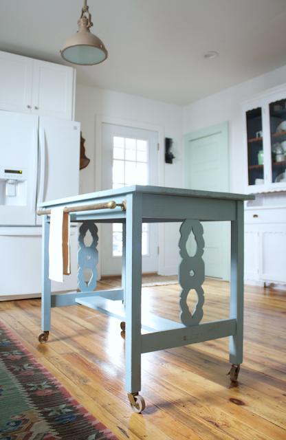Transform furniture into kitchen island