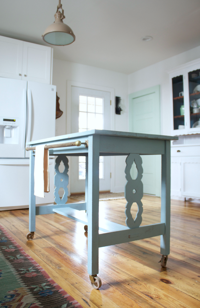 Transform furniture into kitchen island