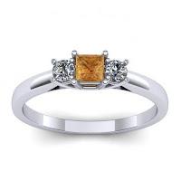 Castiga un inel de logodna din aur alb cu diamant