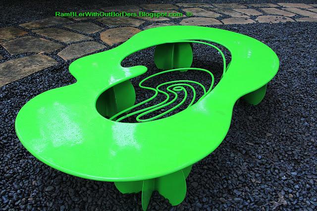park bench, Greenbelt park, Makati, Manila, the Philippines
