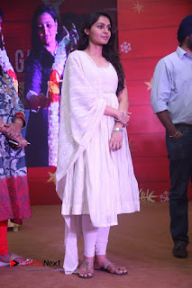 Tamil Actress Singer Andrea Stills in White Salwar Kameez at Narayana Group of Schools Carnival Inauguration  0004.jpg