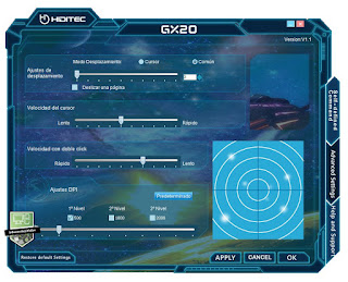 software GX20, review informatica valse, review raton gaming, review gx20, raton hiditec gx20 gaming 4000dpi, raton gaming, on the fly, sensor avago, tecnología omron, OMRON, raton ambidiestro