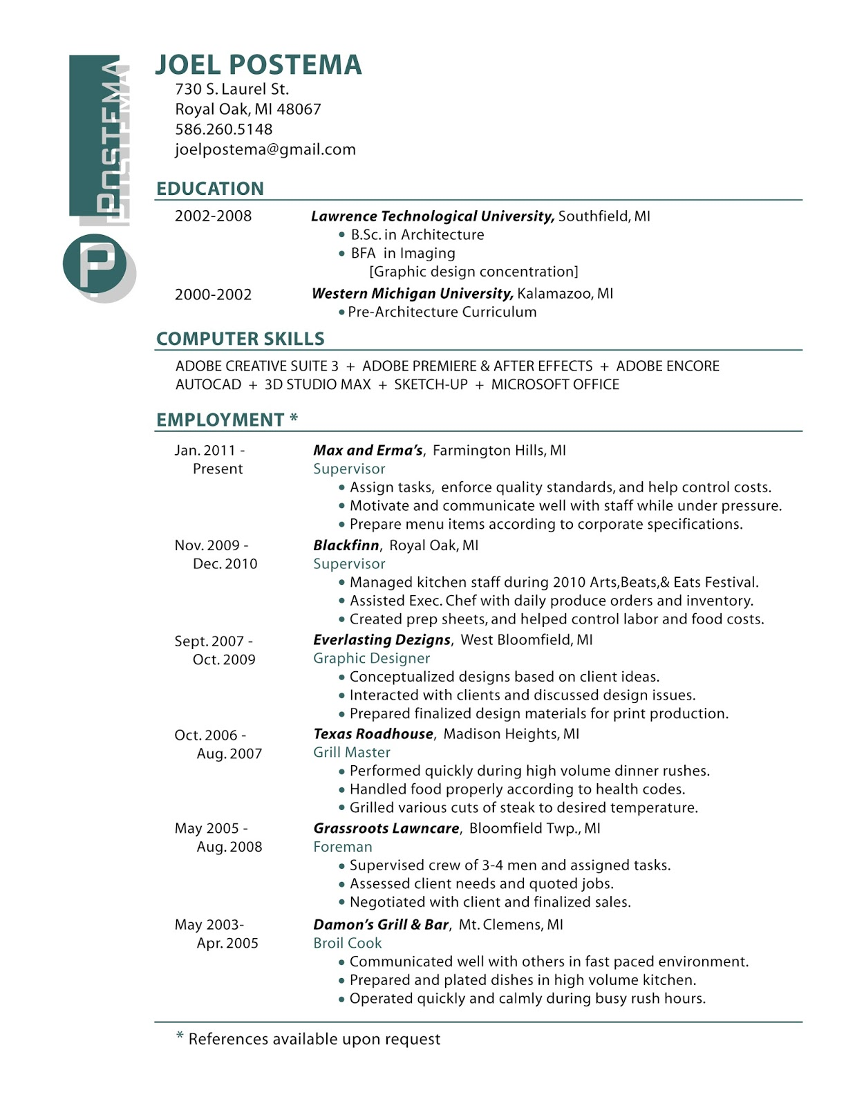 Graphic Designer Resume Objective