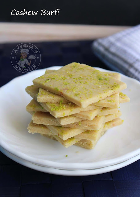 kaju barfi burfi recipes indian sweets cashew burfi ayeshas kitchen sweets recipes simple easy desserts for festivals