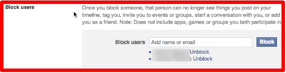 how to block somebody on facebook