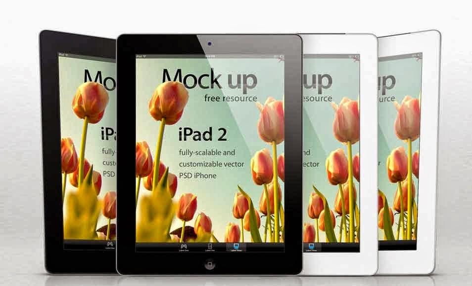 iPad 2 Mockup Template PSD