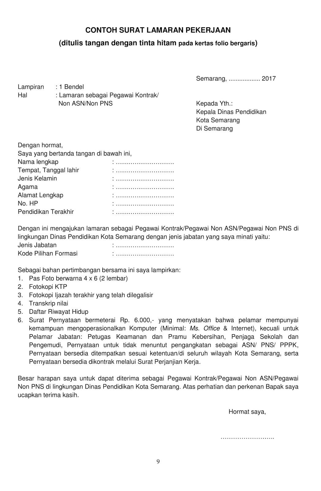 Contoh Surat Dinas Olahraga