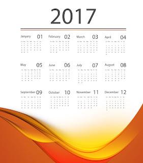 2017カレンダー無料テンプレート201