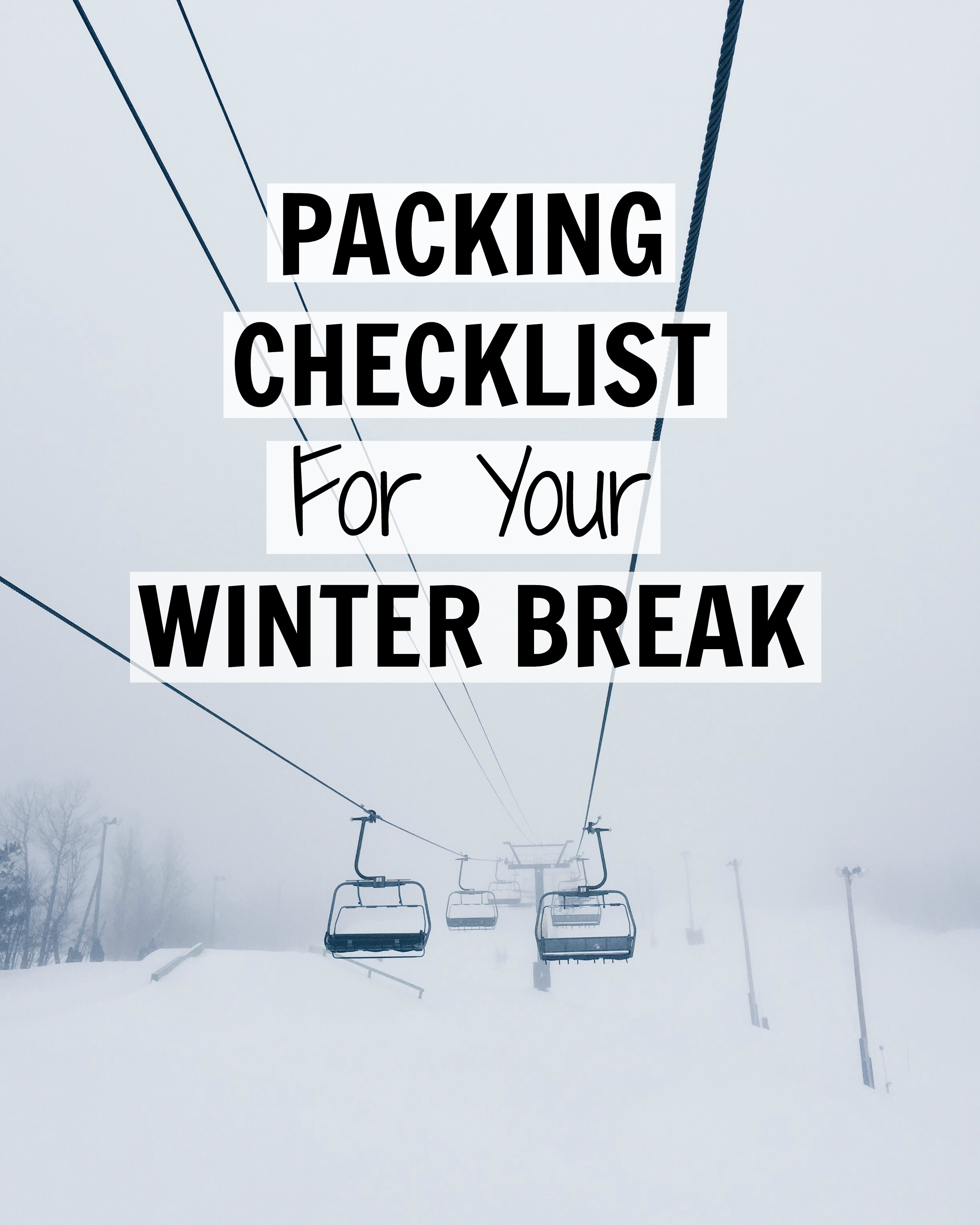 packing checklist for a skiing holiday