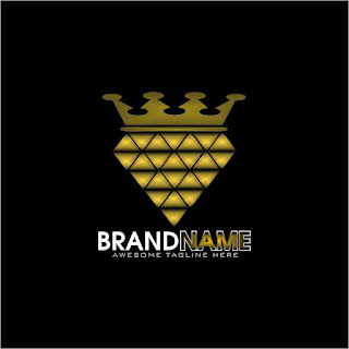 Royal Diamond Design Logo Template Free Download Vector CDR, AI, EPS and PNG Formats