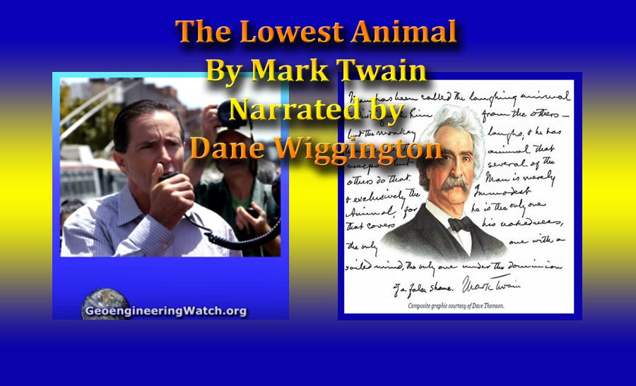 a review of mark twains the lowest animal From the damned human race by mark twain combative and cruel nature of human beings makes them the lowest of creatures man is the animal that laughs.